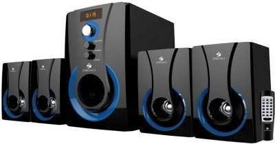 Zebronics 4.1 Multimedia SW3490 RUCF Wired Home Audio Speaker(Black) 4.1 Channel, Remote Control