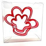 Goggly Mickey Maus Hand Cookie Cutter Set von 2, Brötchen, Gebäck, Fondant Cutter