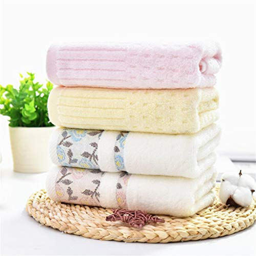 BNBO-L HWH Verdicken Baumwolltuch, Wasseraufnahme Waschlappen Kind Erwachsene Paar Verlängern Weiche Keine Haarentfernung Handtuch 4 stücke Saugfähige Handtücher (Farbe : D)