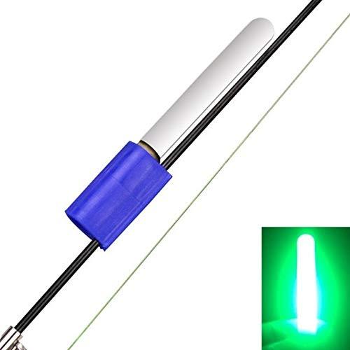 LMEI-QUN, Langlebig licht Stick Nacht angelrute Meer Float Rock wasserdichte led leuchtende zubehör TIPP Fisch köder Glocke Werkzeug grün/rot (Color : Green)