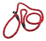 Upstore 1rot 1,2Meter strapazierfähigem verstellbar Nylon Hunde Leine Loop schlaufenhalsband 201811p rutschfest Training Hundeleine Halsband