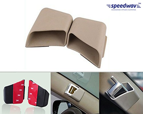 Generic (unbranded) Universal Pillar Storage Pockets for Cars (Set of 2, Beige)