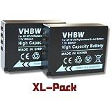 vhbw set de 2 batteries 800mAh (7.2V) pour appareil photo Fujifilm X-M1, FinePix X-Pro 1, X-E1, HS30 EXR, HS30EXR, HS33 EXR, HS33EXR remplace NP-W126.