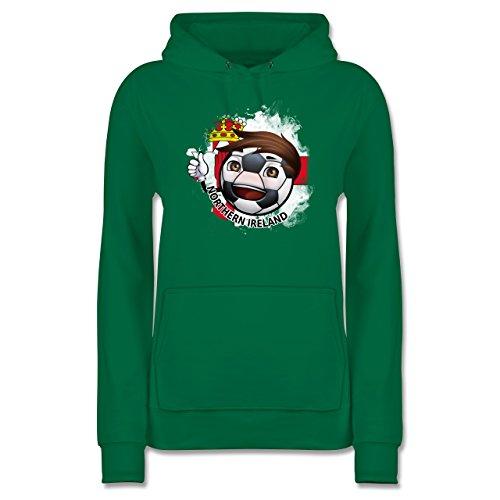 Shirtracer Fußball - Fußballjunge Nordirland - M - Grün - JH001F - Damen Hoodie