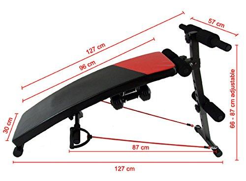 Kobo EB-1003 Exercise Bench (Black/Red)
