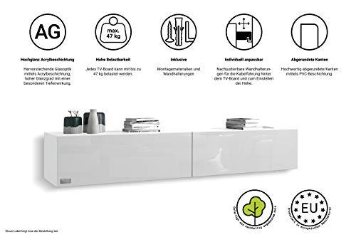 Wohnwand – Low- und Sideboard in weiß Bild 5*