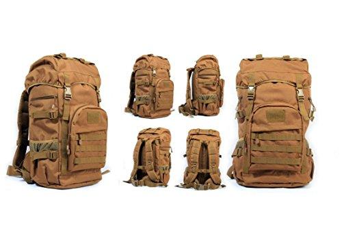 YYY-Un nuovo giorno zaino di medie dimensioni uomini e donne viaggi viaggio zaino outdoor bagagli borsa mimetica zaino militare fan pack capacità 50l , acu camouflage wolf brown