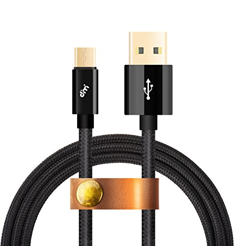 Micro USB Kabel[Micro USB Schnellladekabel],Nylon Datekabel 2m USB Ladekabel,Dimi High Speed Sync und Ladekabel USB Kabel für Android,Samsung,Huawei,HTC,Sony,Nexus, Xiaomi und mehr, Schwarz