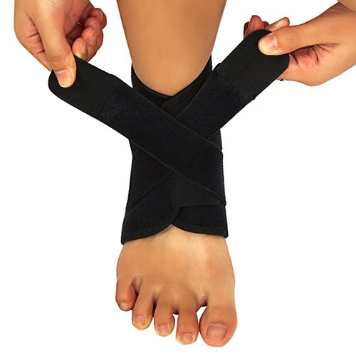 beiguoxia Fußgelenkschutz für Sportler, Atmungsaktiv Knöchel Anti-Verstauchung Gürtel Schützen Knöchelbandage Band, Schwarz