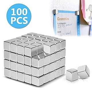 AODOOR Starke Neodym Magnete, Mini Neodym-Magnet-Würfel 5x5x5 mm - extra-stark für Glas-Magnetboards, Magnettafel, Whiteboard, Tafel, Pinnwand, Kühlschrank, und vieles mehr, [100 Stücke]