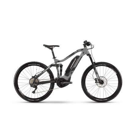 Haibike 2019 Sduro FullSeven LT 3.0 - Bicicleta eléctrica (27,5\'\'), Color Gris y Negro, Color Grau/Schwarz/Weiß Matt, tamaño Medium, tamaño de Rueda 27.50