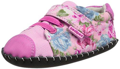 pediped Baby Mädchen Jake Krabbelschuhe Pink Floral