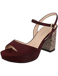 4f6b1b9901049 Anne Michelle Ladies High Glitter Heel Mule Sandals