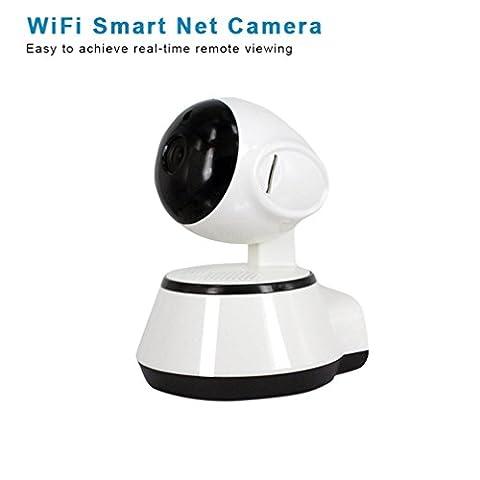shengyaohul Indoor Haus-System Sicherheit Baby-Kamera, 720p Full HD Video Baby Monitor Überwachungskamera wlan IP Sicherheit des Systems with Wolken von Etiketten/Access Point AP Built/Panorama Geräte White IP Kamera