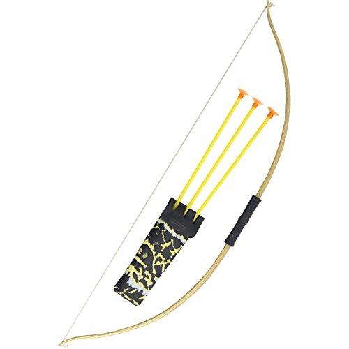 Flecha y arco Set de arquero Accesorios disfraz cazador Arco de juguete Accesorios bélicos Complemento Traje Robin Hood