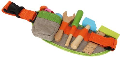 small foot 4745 Verstellbarer Werkzeug-Gürtel inkl. buntem Spielwerkzeug und -zubehör aus Holz, ab 3 Jahren