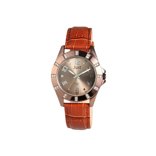Just Watches 48-S3928-CO - Orologio da polso da donna, cinturino in pelle colore marrone