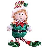 Homeofying - Muñeca de Navidad con Patas largas de Colores, Ideal como Regalo de Fiesta