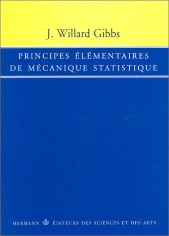 Principes élémentaires de mécanique statistique
