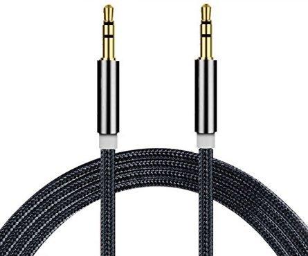 I-Sonite (schwarz Gold überzogenes Nylon Material Geflochtene 3.5mm Buchse an Buchse Anschluss Aux Aux-Audiokabel [3 Meter] Für Samsung Galaxy Tab Pro 8.4