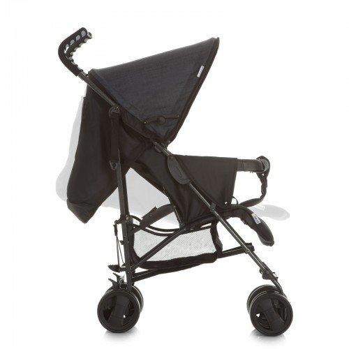 Hauck Sprint S Buggy, mit Liegefunktion, extra schmal zusammenfaltbar, für Kinder ab Geburt bis 15 kg, ergonomische Schiebegriffe, leicht, melange charcoal (schwarz)