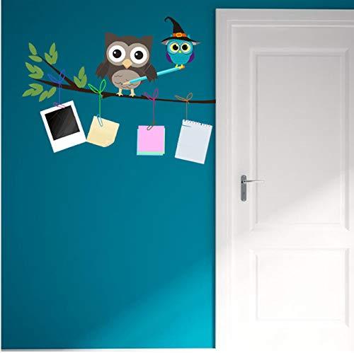 r für Schlafzimmer Wohnzimmer Mädchen Junge Küche - Niedliche Cartooneulenanmerkung ()