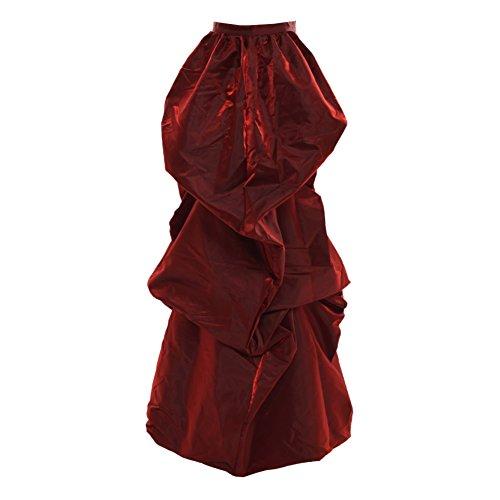 Kostüm Damen Edwardian - GRACEART Viktorianisch Steampunk Treiben Gürtel Burleske Kostüm (Rot)