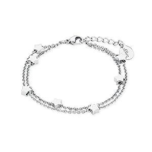 S.Oliver Kinder Armband Sterne Edelstahl 14+2 cm