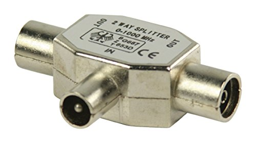 Valueline Metall Koaxial-T-Splitter (Koaxialstecker auf 2x Koaxialbuchse)