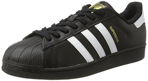 adidas Originals Superstar Foundation Herren Sneakers, B27140, Schwarz (Core Black/Ftwr White/Core Black)
