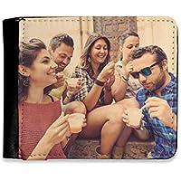 Cartera de Hombre Personalizada con Fotos y Texto | Máxima Calidad de impresión | Espacio para 8 Tarjetas | Tamaño 12 x 10 cm