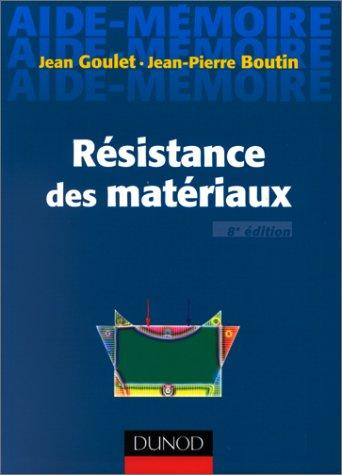 RESISTANCE DES MATERIAUX. 8ème édition
