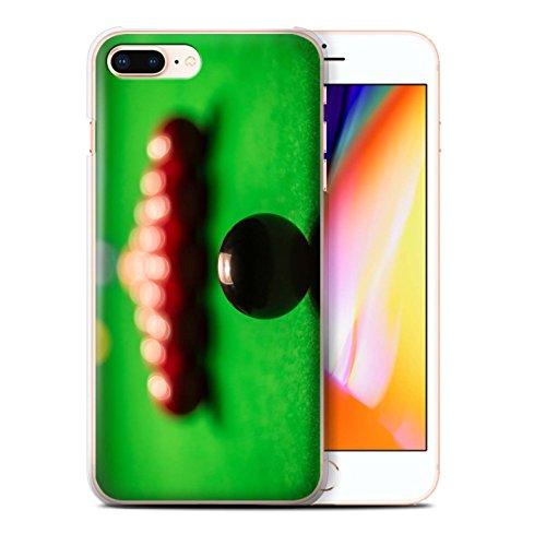 Stuff4 Hülle / Case für Apple iPhone 8 Plus / Queue Kugel Muster / Snooker Kollektion Schwarze Kugel/Rack