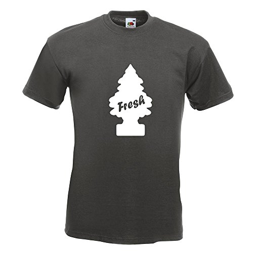KIWISTAR - Duftbaum / Fresh /Wunder-Baum T-Shirt in 15 verschiedenen Farben - Herren Funshirt bedruckt Design Sprüche Spruch Motive Oberteil Baumwolle Print Größe S M L XL XXL Graphit