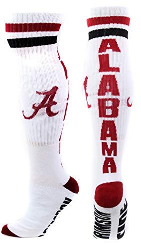 Donegal Bay NCAA Alabama Crimson Tide Tube Socken, Herren, weiß, Einheitsgröße