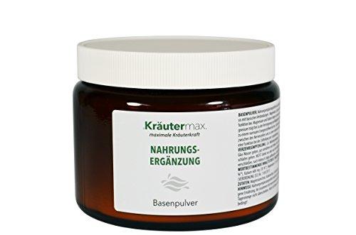 Basenpulver-zum-Einnehmen 1 x 320 g - Citrat - ohne-Zucker - Citratbasis - Nahrungsergänzungsmittel mit Magnesium, Kalium, Calcium -