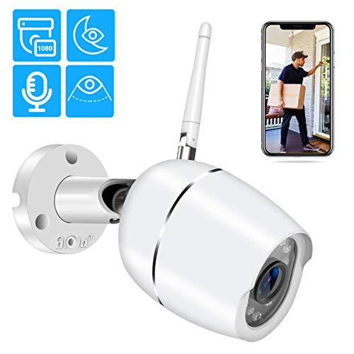 Zeetopin Überwachungskamera AussenWLAN Kamera IP 1080P HD für Außen mit LAN/WLAN Verbindung Dual Audio Bewegungs- und Tonerkennung Infrarot Nachtsicht TF Karten/Cloud Service/Onvif unterstützen - Unterstützen Sie Die Plattform
