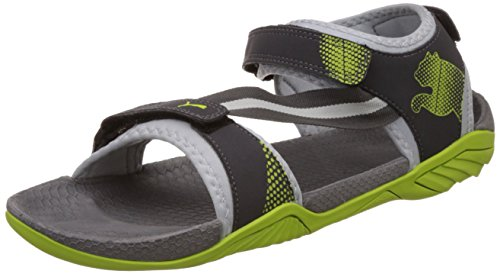 Puma Men's K9DP Limestone Grey, Dark Shadow and Lime Punch Athletic & Outdoor Sandals - 7 UK/India (40.5 EU)