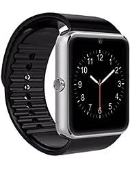 Smart watch,Reloj elegante, smartwatch androide, reloj elegante del iphone, Pushman 1, impermeable diario, Sweatproof, SmartPhones, reloj elegante para el androide, reloj elegante para iphone6 / 6s / 7 (Silver)