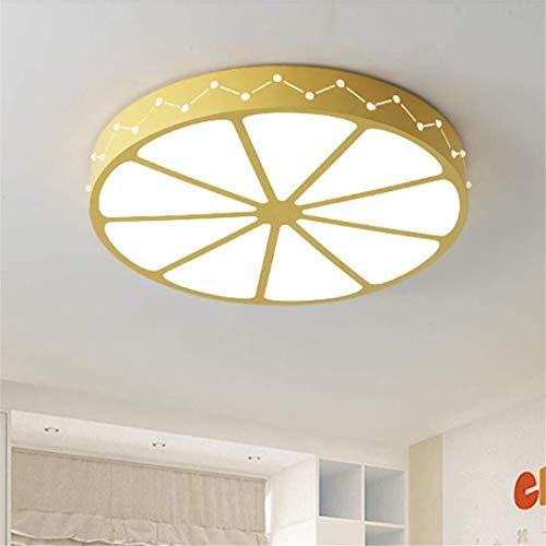 Mtx ltd lampada da soffitto a led creativo giallo bellezza pomelo lampada da camera per bambini stile pastorale moderno lampade da camera da letto fresche e semplici da ragazzo