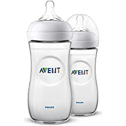 Philips Avent SCF036/27 - Biberón natural de 330 ml, transparente