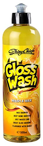 ShinyChiefs GlossWash Shampoo mit Mango Duft, Wash and Wax, Autoshampoo, Glanzverstärker, Lackversiegelung, Lackpflege, Wachs, Auto, Motorrad (1 STK)