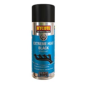 hycote xuk1001 tr s haute temp rature peinture a rosol 400 ml noir auto et moto. Black Bedroom Furniture Sets. Home Design Ideas