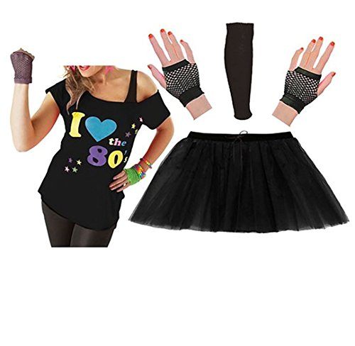 Ladies I Love 80s T-shirt Tutu Skirt Short