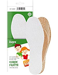 Kaps corcho frotte niños, rizo y corcho zapato plantillas para niños, frescura y la higiene, corte a tamaño corte, para, todos los tamaños, fabricado en Europa, 1par