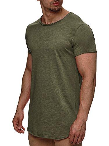 Cooles Grünes T-shirt (Indicode Herren Willbur Herren T-Shirt Kurzarm Shirt mit Rundhalsausschnitt 30 Farben S-3XL Army M)