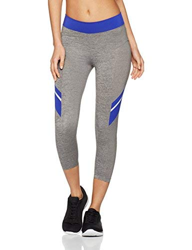 Iris & Lilly Colour Block Leggings Sportivi Capri Donna
