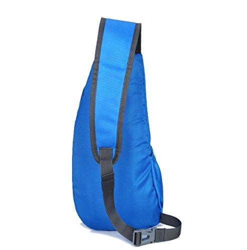 BULAGE Tasche Brusttasche Kreativ Männer Und Frauen Im Freien Sport Diagonal Wandern Reisen Persönlichkeit Wasserdicht Kratzer Freizeit Blue