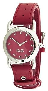 Dolce&Gabbana DW0643 - Reloj analógico de cuarzo para mujer con correa de piel, color rojo de Dolce&Gabbana