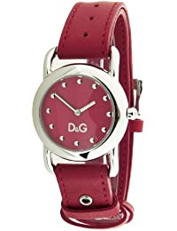 Dolce&Gabbana DW0643 - Reloj analógico de cuarzo para mujer con correa de piel, color rojo